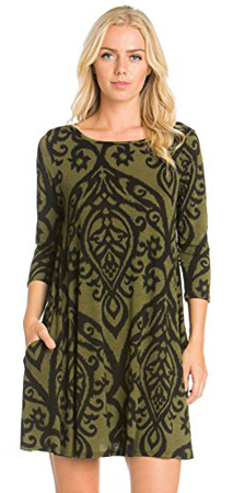 Cody Line 3/4 Sleeve Tunic Dress