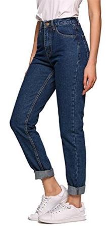 Evensleaves High Waist Straight-Leg Denim