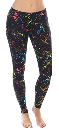 Extreme 80s Neon Splatter Leggings