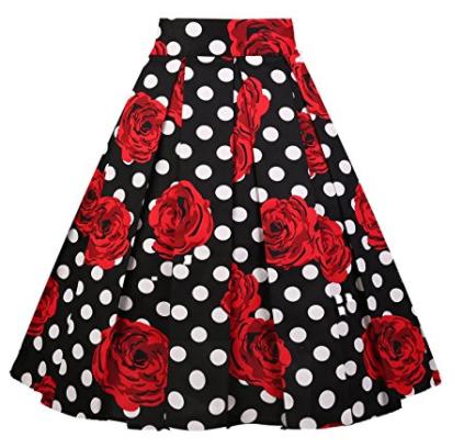 Girstunm Skirt Floral Print A-Line