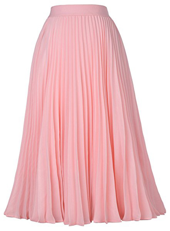 Kate Kasin High Waist Swing Skirt