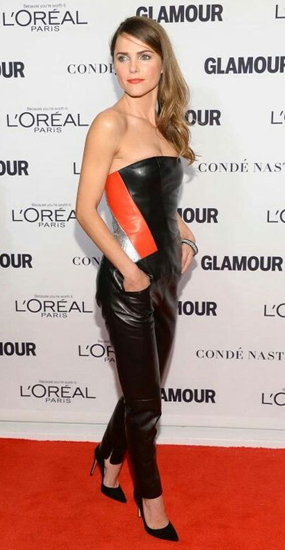 How to wear leather pants - Shoes (Keri Russell)