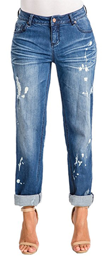 Poetic Justice Curvy Fit Boyfriend Jeans