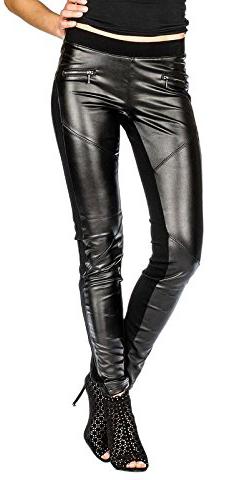 Suko Jeans Biker Moto Faux Leather Pants
