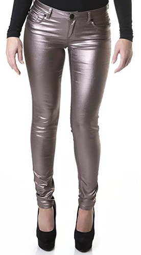 Suko Pull On Stretchy Faux Leather Leggings