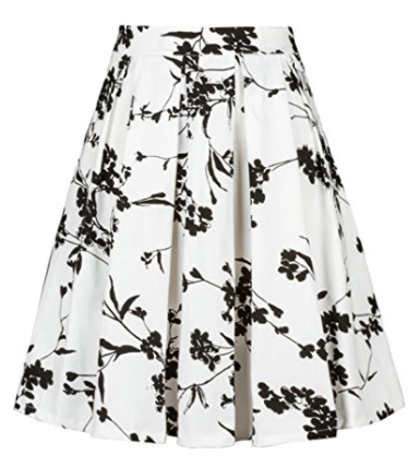 Imimimomo A Line Flare Midi Skirt