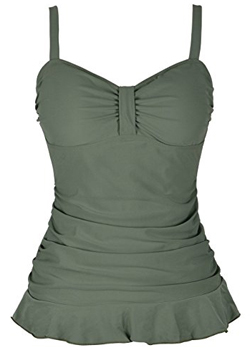 Hilor 50's Retro Ruched Swimsuit