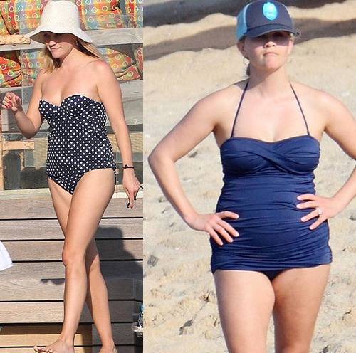Best Swimsuit For Apple Shaped Body (Reese Witherspoon)