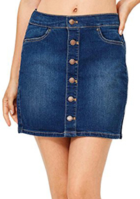 Wax Denim Mini Skirt