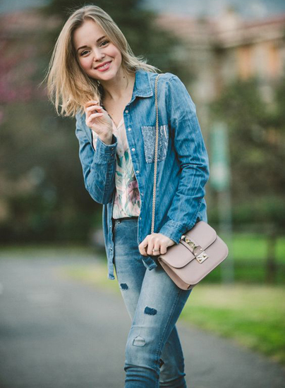 Fashion Blog The Cablook - Darya Kamalova Guess Jeans