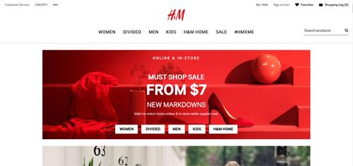 H & M Website