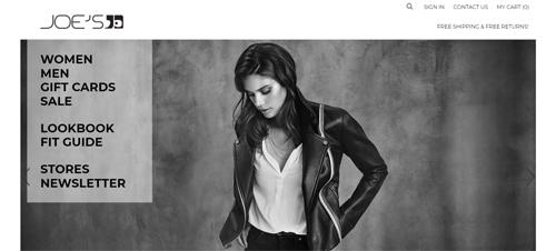JOE's Jeans Website