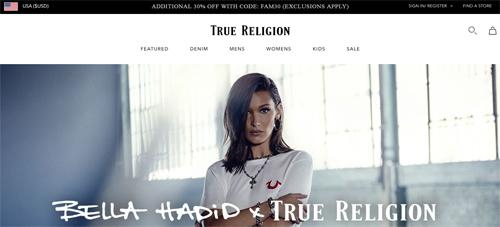True Religion Website
