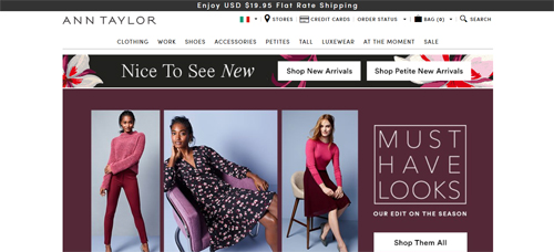 Ann Taylor Website
