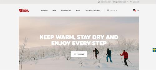 Fjällräven Website