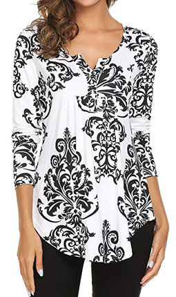 Halife Flare Tunic Blouse