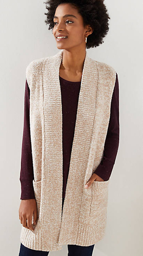 Loft Pocket Sweater Vest