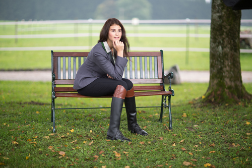Woman Wearing Riding Boots