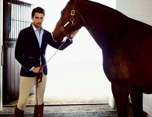 David Gandy in Equestrian Style