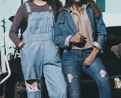(Two Women in Denim) - Cotton Jeans vs Denim - What is Denim Fabric?