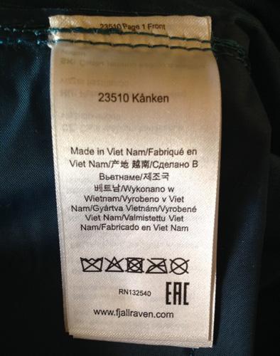 Labels - Original Kånken Backpack