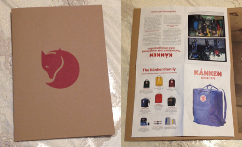 The Illustrative Brochure - Original Kånken Backpack