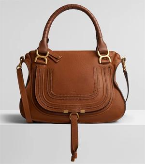 Chloe Marcie Leather Handbag in Small Grain Calfskin