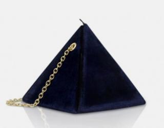 Louvreuse Cleo Navy Velvet The Pyramid Bag