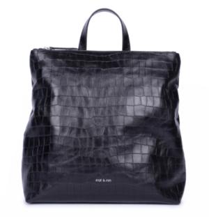 Nat and Nin Naomi Backpack - Crocodile Printed Leather