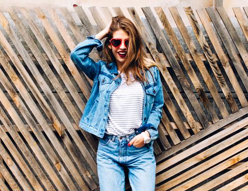 A Woman Wearing Jeans
